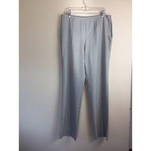 Escada straight leg wool and silk blend pants